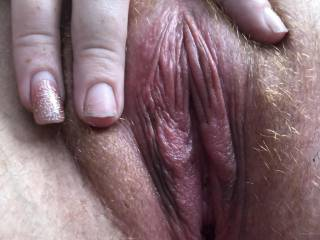 She's holding her perfect pussy open for me. That's a sexy pussy right there. Yum