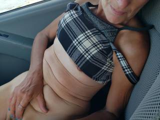 Dawn showing me her tits and pussy