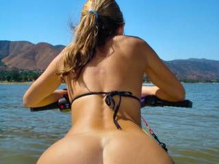 Doing a little nude jetskiing :)