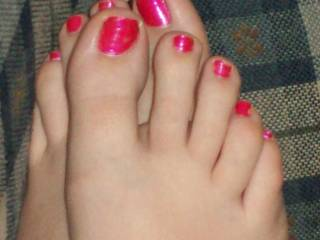 Mmm, just missing a toe ring and black nylons :)