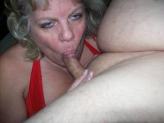 Mrs Daytonohfun sucking my cock as I take pictures for her hubby to see later