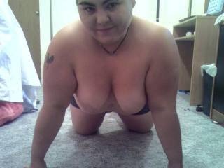 Come and hover over me and I will suck you tits and eat your ass hole and pussy for as long as you need it
