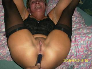 i would love to eat her beautiful pussy while you shove that toy up her ass