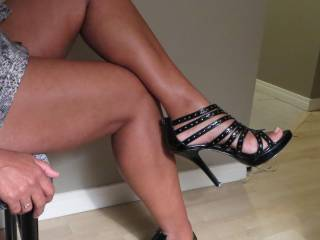 Very Sexy, great legs and I love the shoes.   HOT