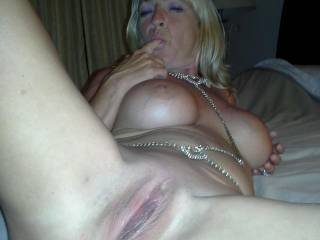 wife\'s in a dirty mood, ready to get gang banged and pussy is swollen and ready