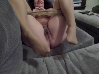 Love to feel her sexy legs and toes as I go down and lick on her sweet looking pussy