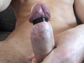 My cock with my new cockhead ring
