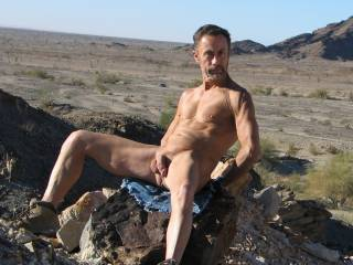 Nudist hiking around Arizona