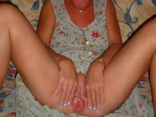 Mmm, I want you! I love this shot. I'd love to lick your clit, get you off, and cum deep inside that sexy pussy.