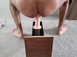 Loving my big 9 inch dildo. I bet 5 inch real cock would feel even better.