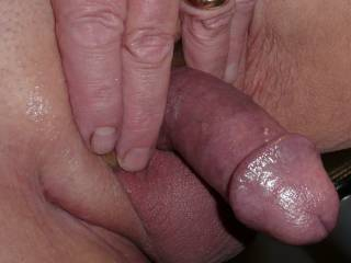 My hard albeit small circumcised smooth shaven dick and balls shared with you