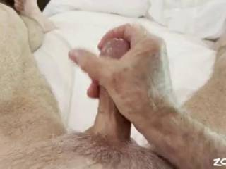 Mr. F stroking his cock just 15 minutes after he fucked me and came.  He couldn't cum again, but don't you think he's hard enough to fuck me again?  From Mrs. Floridaman