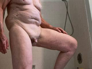 Getting ready to hop in the shower and play with my little dick