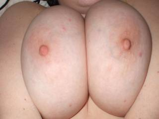 I absolutely luv to suck on your big Beautiful TITS - if you ever cum to Orlando on Holiday look me up and we'll have some hot fun together.  Do you like having a big cock between your big tits?