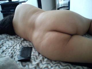 Like to spank that ass with my hard cock.
