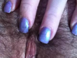 oh so lickable such a beautiful hairy peach to be tongued with long licks while enjoying your sweet nectar of your luscious pussy