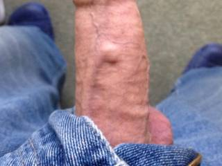 I'd like to feel under your foreskin with my tongue first, the push it back til your cock head is straining and oozing precum.