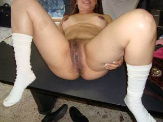 Pat´s hairy open cunt..do you want to fuck it?