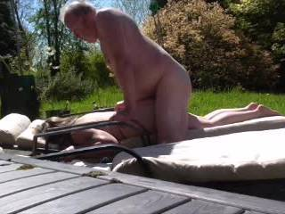 nice day so fun out side getting sun naked  and   some fucking as well as blow job
