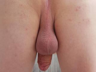 Smooth shaved and ready to play. Who'd like to join me for some hot fun?