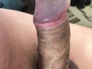 My cock Rock hard, does it deserve to go in the big dick category I don\'t know??  I know I\'d Love for a woman too polish the head with her tongue Hahahahaha