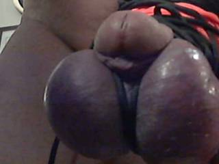 50 yards of cord wrapped around my cock and balls