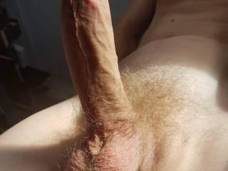 a big long dick to suck... balls too