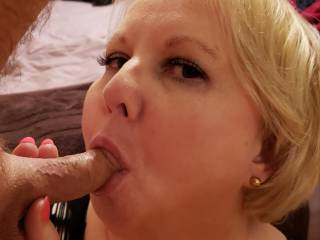 Married Cockwhore sends husband to work then sucks cock for my cameras.