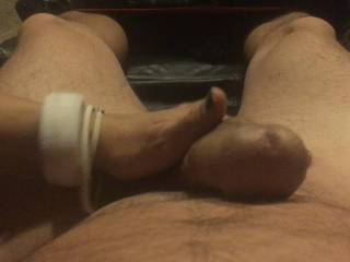 Wife runs her hand up n down my shaft she says she can feel my cock throbbing in her hand as she strokes it