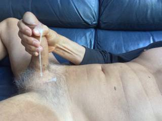 After the pre cum comes the cum!  Who wants some?