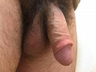 Mrs S loves to press her face into my cock when it's soft. Can't stay that way for too long with her down there.