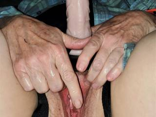 Getting her cock ready for my ass