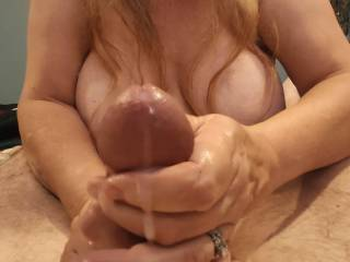 Who wants to be next? This shared wife loves taking care of cock. And that cum... Mmm. Take a look at my newest video to see how I will edge your manhood.