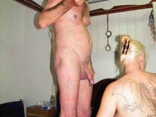 Is hubby cut or uncut? Do you enjoy sucking his rather long cock? Is it good when he has his long cock buried up in your cunt?