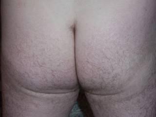 Hubbys hairy ass