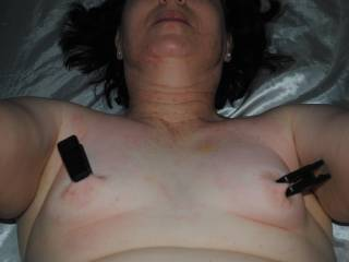 She had been looking forward to having her body played with --- so I decided to have some fun with the nipples on those itty bitty titties.