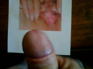 Thank you so much honey,I could almost feel your hot cum on my spread pussy!