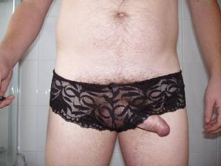 just trying on my friend's panties do you think the suit me