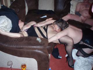 Love to join your party. Enjoy another women eating my pussy then doing her. Love using my strap-on, with another women. Kathie