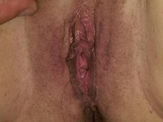 The Mrs. has a big wet pussy