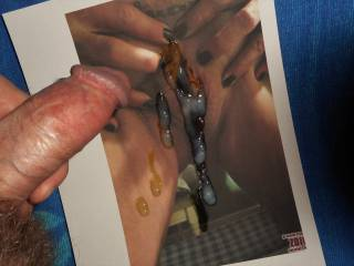 My cum-plete tribute for Barbe, and her swollen clit  >:)