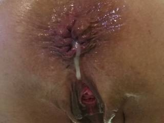 This is a still I pulled from the anal creampie video that is already posted. Love it.