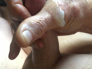Love the feel of hot semen dripping off my hand.