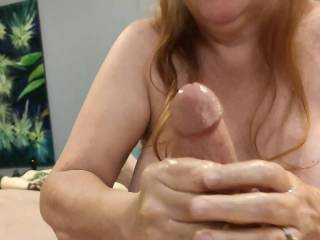 There is nothing like a man moaning as my massage makes his cum. Mmm... These married hands love when a cock expresses its love while I massage it. Will you cover my hands with your love?