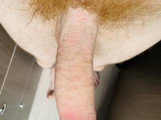 Tell me what you think about my red hairy dick ;)