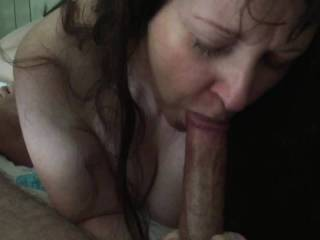 Teasing him, taking time over my pleasure ;) I truly LOVE playing with his cock!