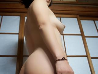 Japanese wife nude showing ass