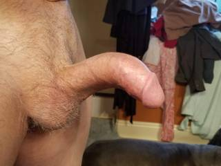 Brian S showing off his erect penis