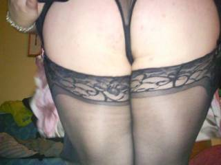 I'd like to pull those panties to one side and finger your pussy and arse!! Get you all wet so I can plunge my hard cock deep inside you!! Want to fill your pussy with my cock and my cum!!!! xxx