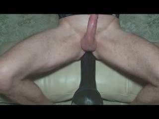 My mouth would be covering your cock as you used the dildo. So very sexy video, made me want to try that size.